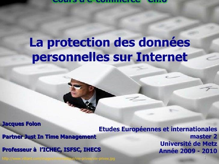Ecommerce (6) - j.Folon - Vie privée sur Internet