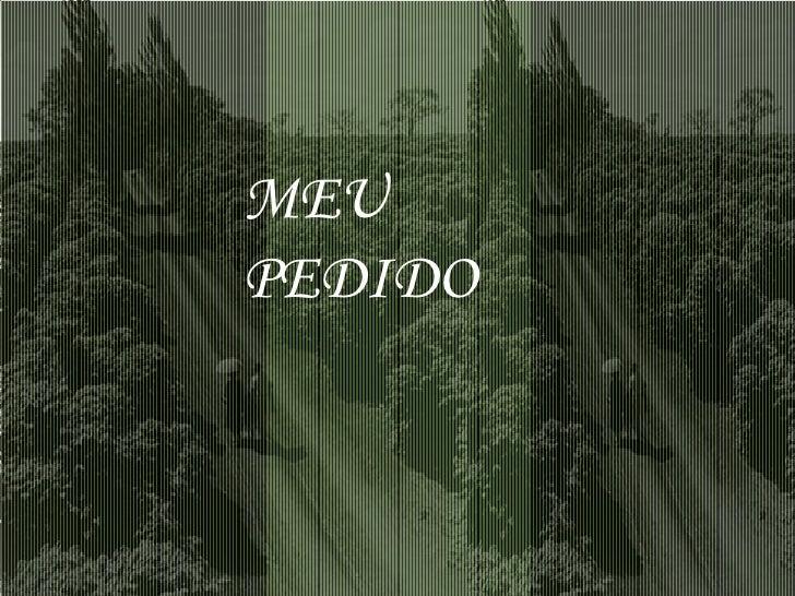 MEU PEDIDO
