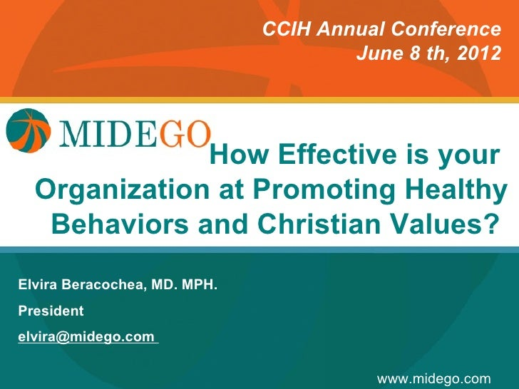 CCIH Annual Conference                                      June 8 th, 2012                        How Effective is your  ...
