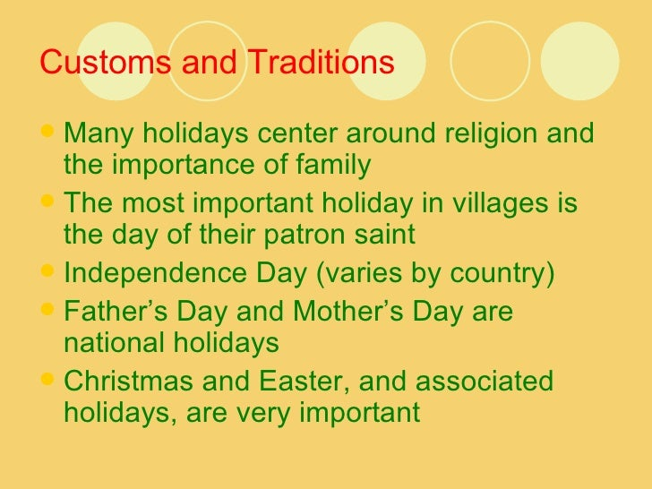 What are some american traditions or customs?
