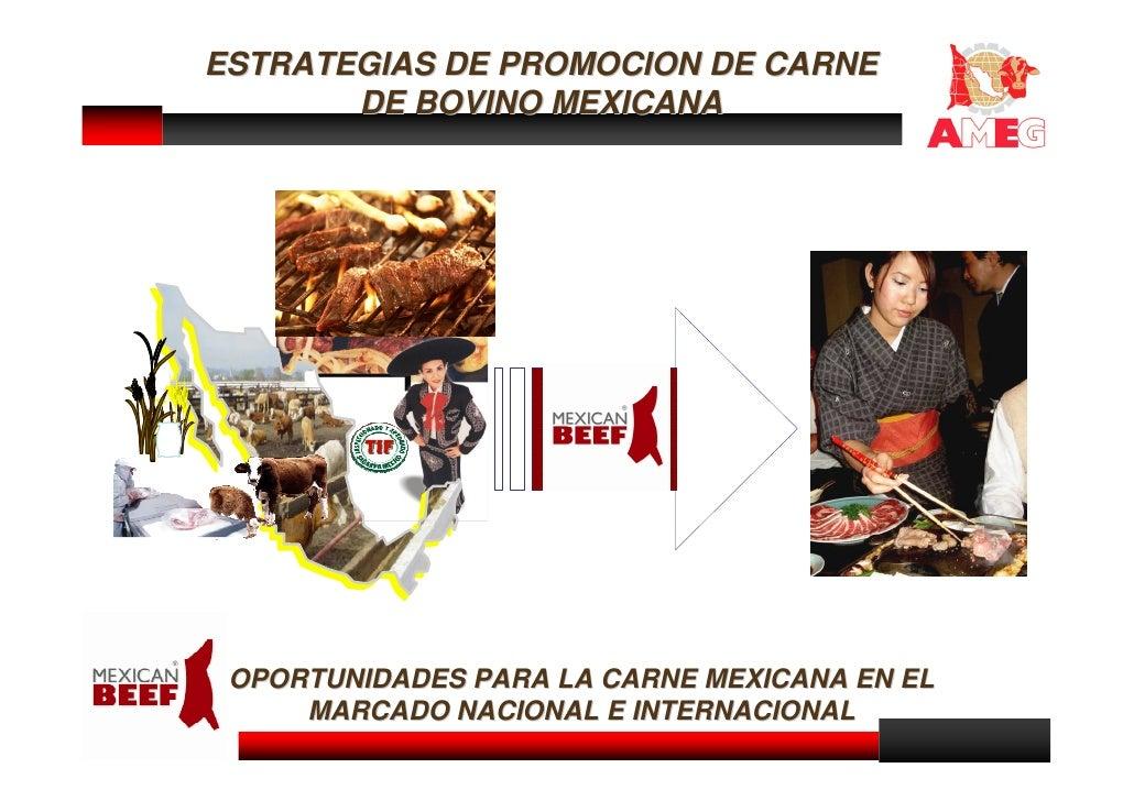 ESTRATEGIAS DE PROMOCION DE CARNE        DE BOVINO MEXICANA      OPORTUNIDADES PARA LA CARNE MEXICANA EN EL      MARCADO N...