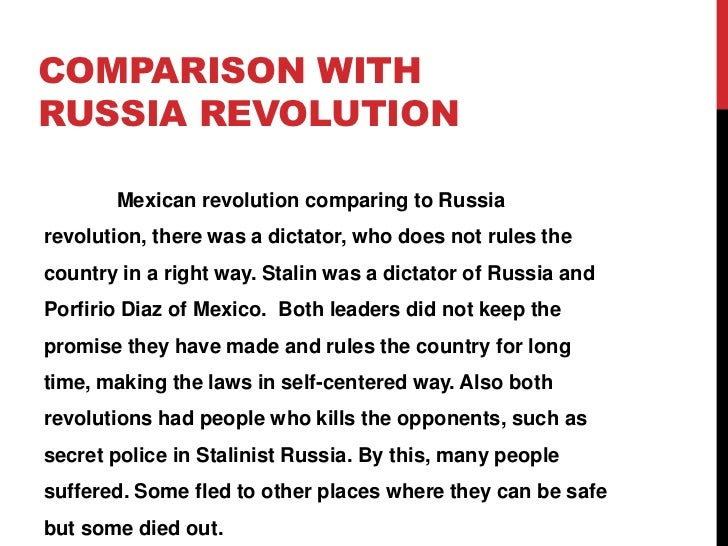 a comparison of the french and russian revolutions Top 10 revolutions felt around the world 7raul7  revolution and part of the russian revolution of  unfolded in the shadow of the french revolution.
