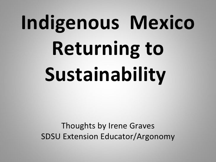 Mexico   Returning To Sustainability