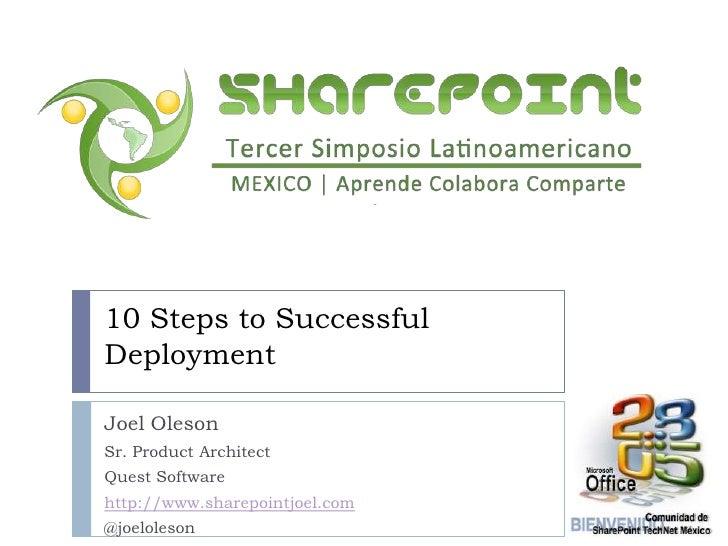 SharePoint 2010 Failed Deployments en English y Español. 10 Pasos Para una Implementacion Exitosa de SharePoint 2010