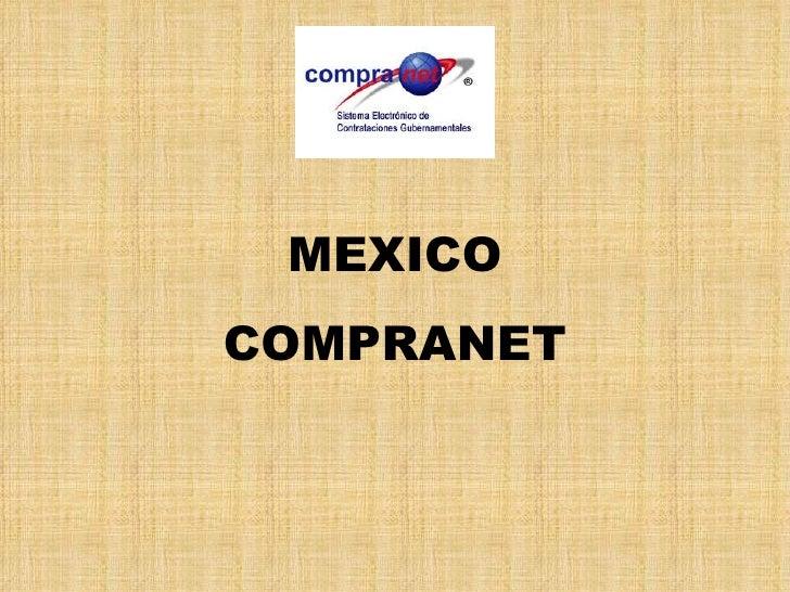 MEXICO COMPRANET