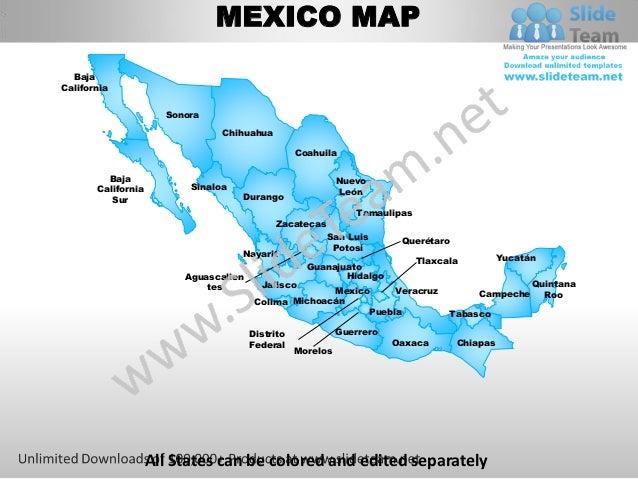 MEXICO MAP  BajaCalifornia                      Sonora                                Chihuahua                           ...