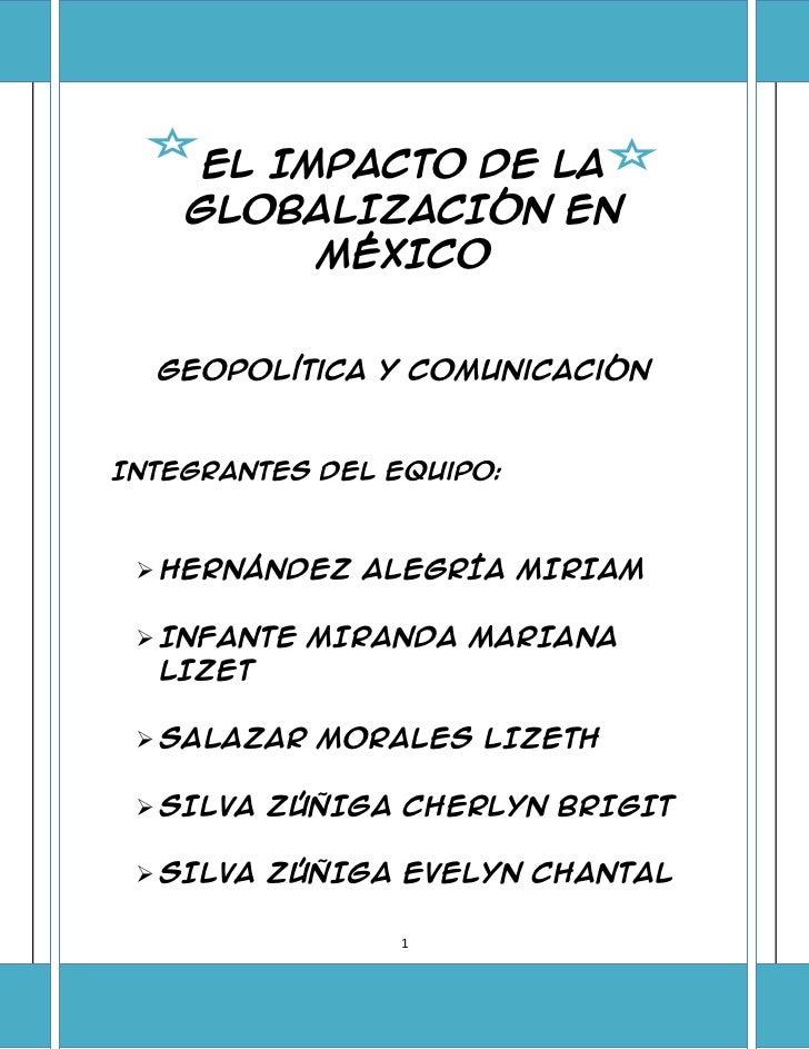 Mexico en la globalizacion final