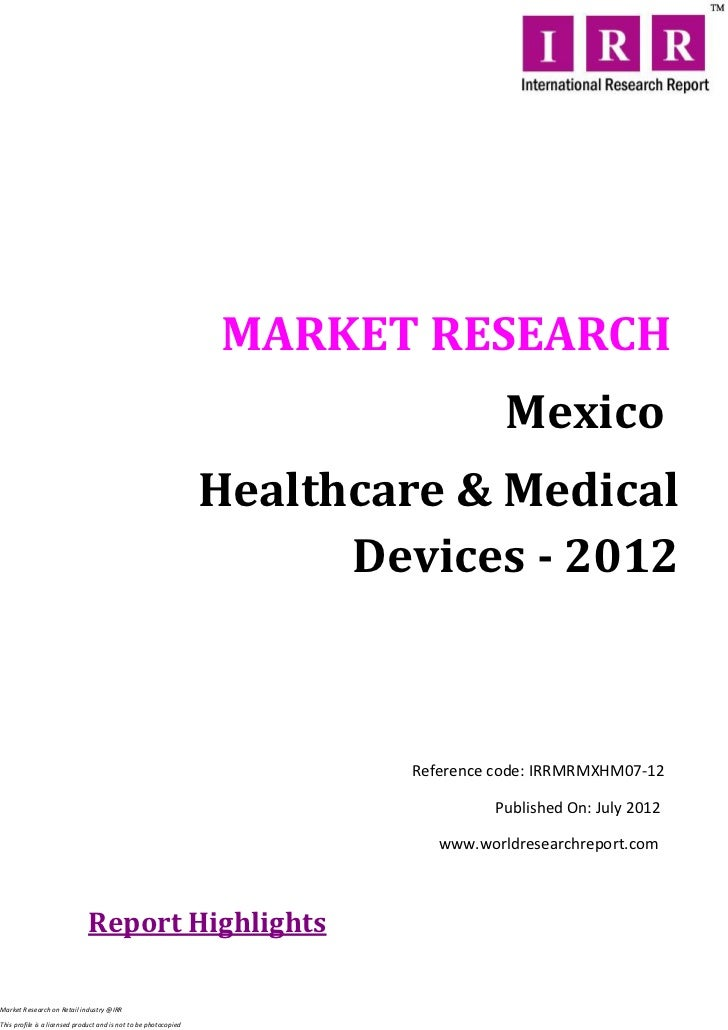 Mexico healthcare and medical devices 2012