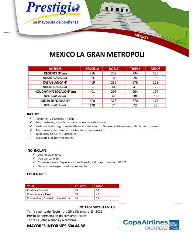 Mexico la gran metropoli 2013