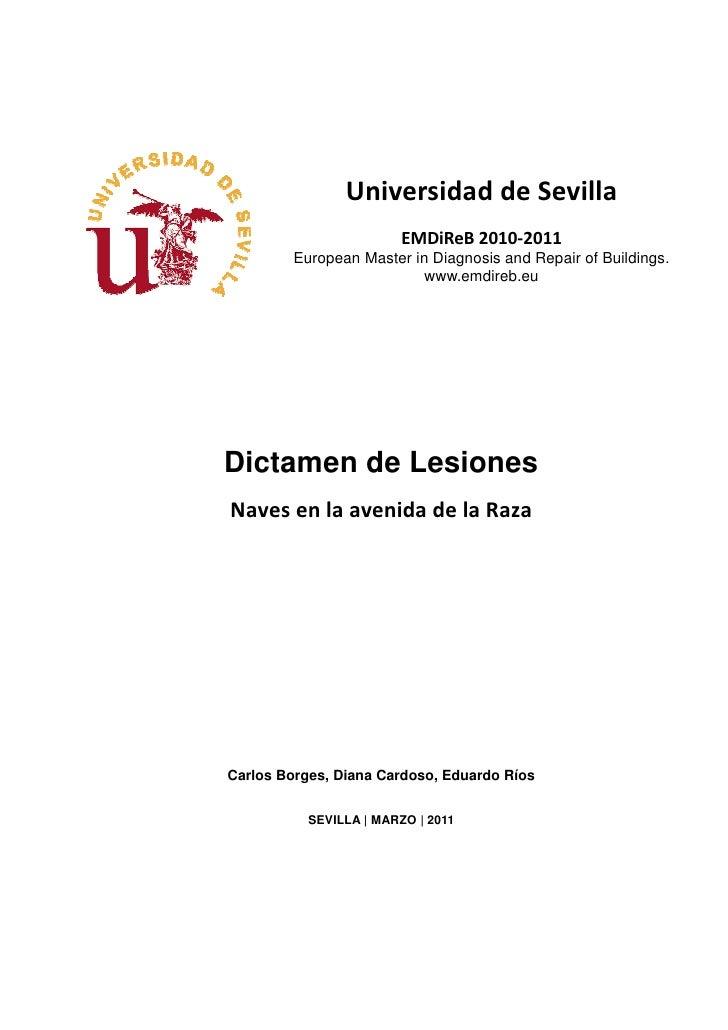 Universidad de Sevilla                        EMDiReB 2010-2011        European Master in Diagnosis and Repair of Building...