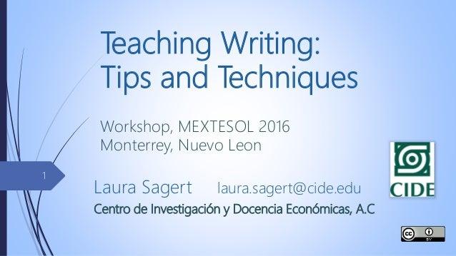 teaching writing techniques