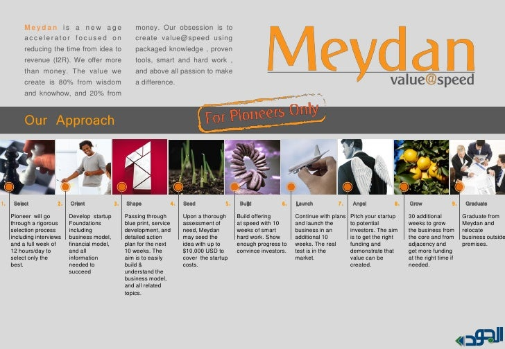 Meydan is a new age                         money. Our obsession is to          accelerator focused on                    ...