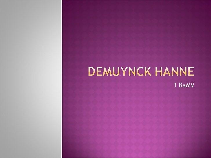 Mezelf  Hanne Demuynck 1 Ba M V