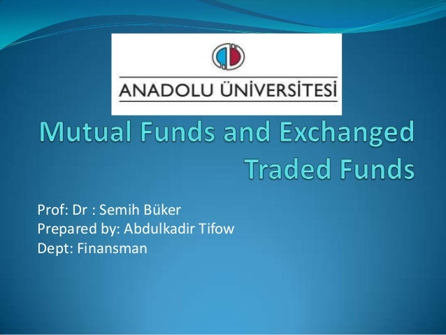 Mutual Funds and Exchange Traded funds in Turkey