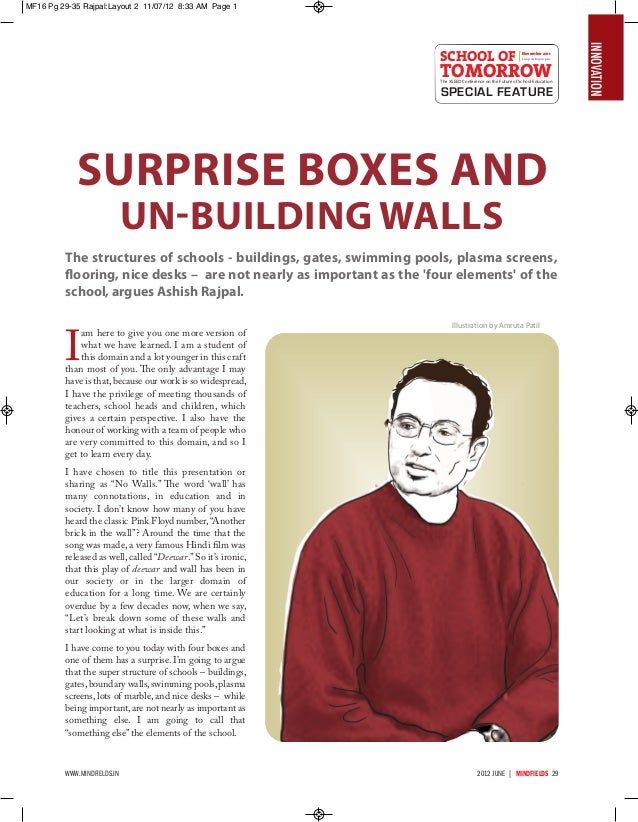 Surprise Boxes And Un-building Walls - Ashish Rajpal