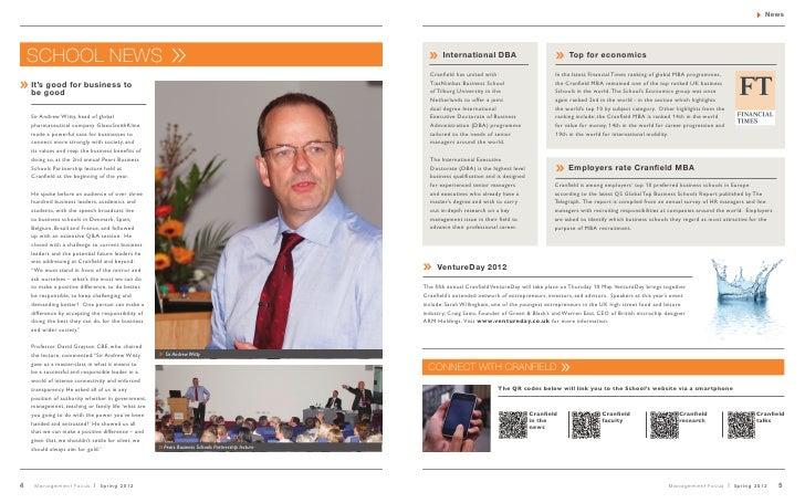 FT Rankings: Cranfield School of Management