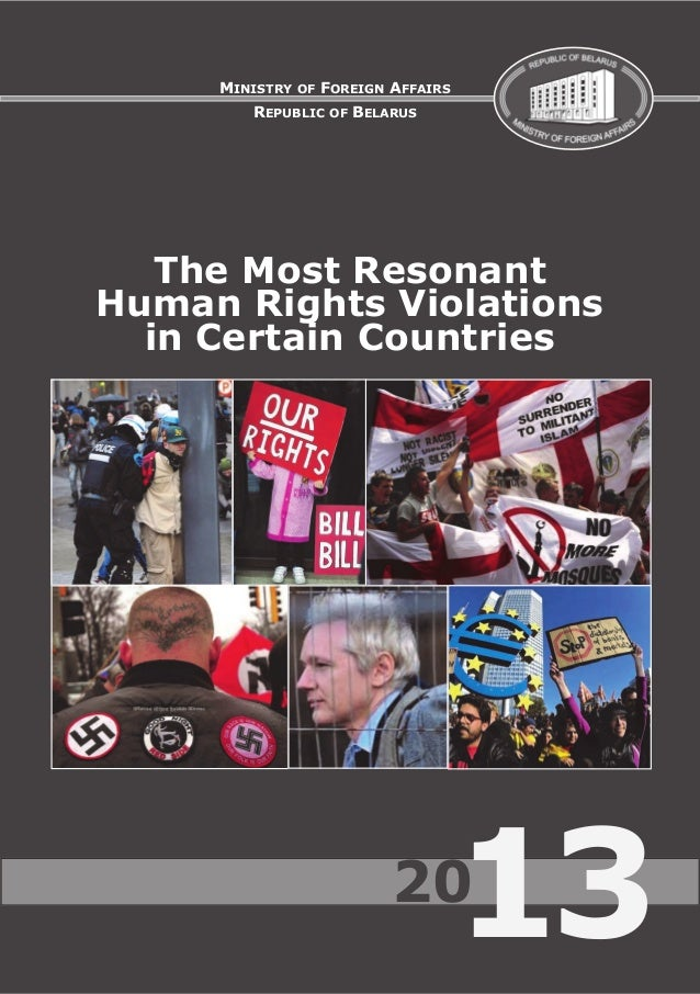 "MFA report ""The Most Resonant Human Rights Violations in Certain Countries 2013"""
