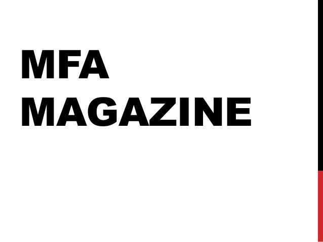 Mfa magazine