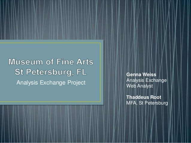 Analysis Exchange ProjectGenna WeissAnalysis ExchangeWeb AnalystThaddeus RootMFA, St Petersburg
