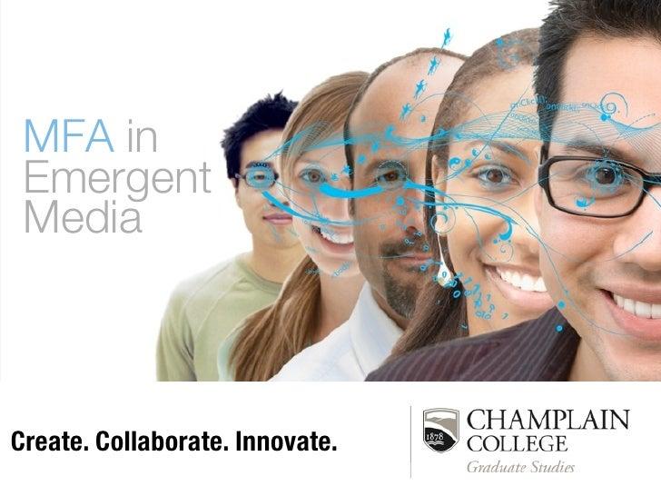 DeMarle-MFAEmergent Media at Champlain College