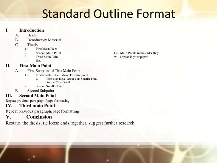 detailed outline - term paper