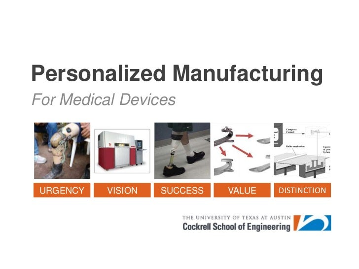 Personalized Manufacturing<br />For Medical Devices<br />