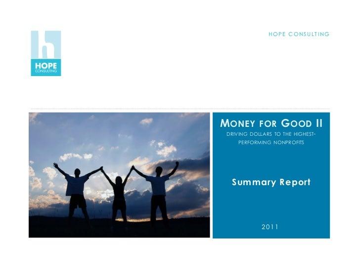 MFGII summary findings Nov 2011