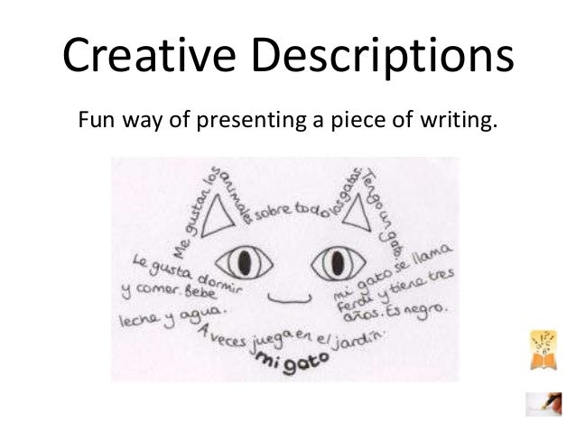 Creative Writing Descriptions