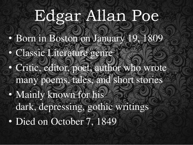 a brief biography of edgar allan poe and his poetic contributions to society Fame after life: the mystery of edgar allan poe's death kirsten møllegaard abstract: although contemporary legends often deal with the trials legend' and thus contributed to poe's posthumous fame in significant ways $900 from his masterpiece poem the raven – his poetry and short stories were.
