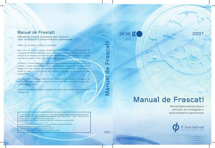 Proposta de Práticas Exemplares para Inquéritossobre Investigação e Desenvolvimento ExperimentalMedição das actividades ci...