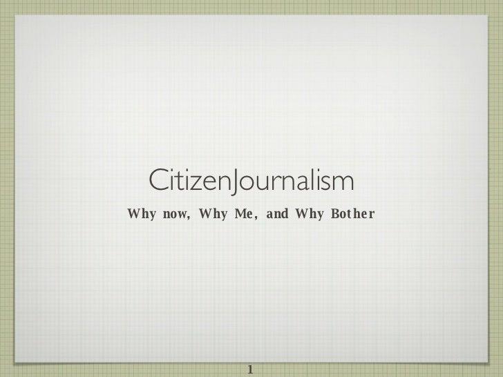 Alternative Media and Citizen Journalism