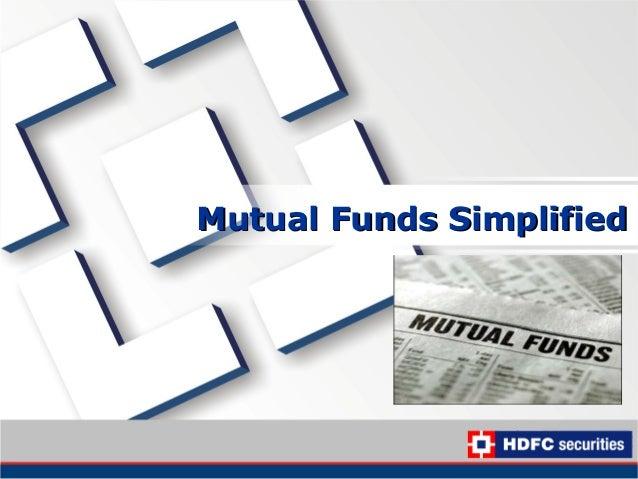 Mutual Funds SimplifiedMutual Funds Simplified