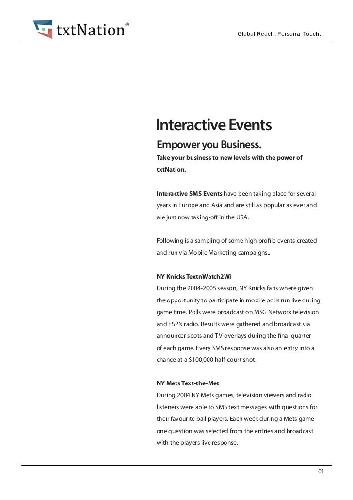 txtNation        ®                                          Global Reach, Personal Touch.            Interactive Events   ...