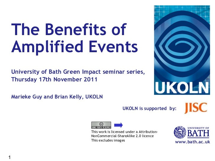The Benefits of Amplified Events