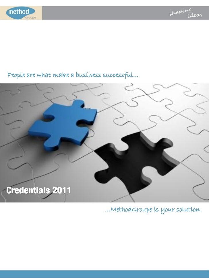 MethodGroupe Credentials