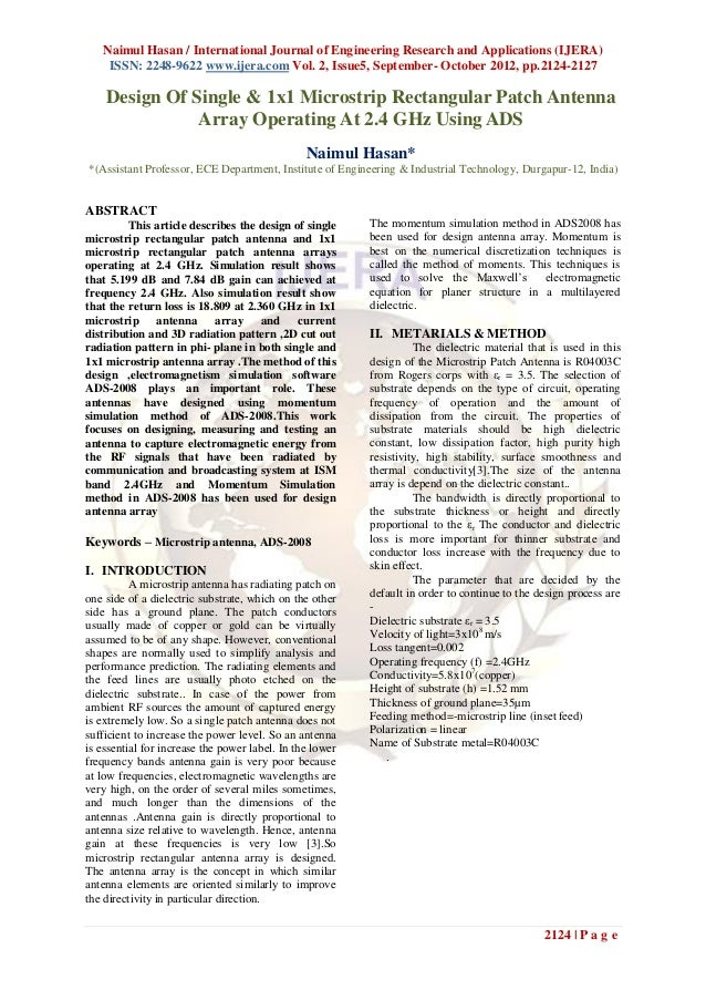Naimul Hasan / International Journal of Engineering Research and Applications (IJERA)    ISSN: 2248-9622 www.ijera.com Vol...