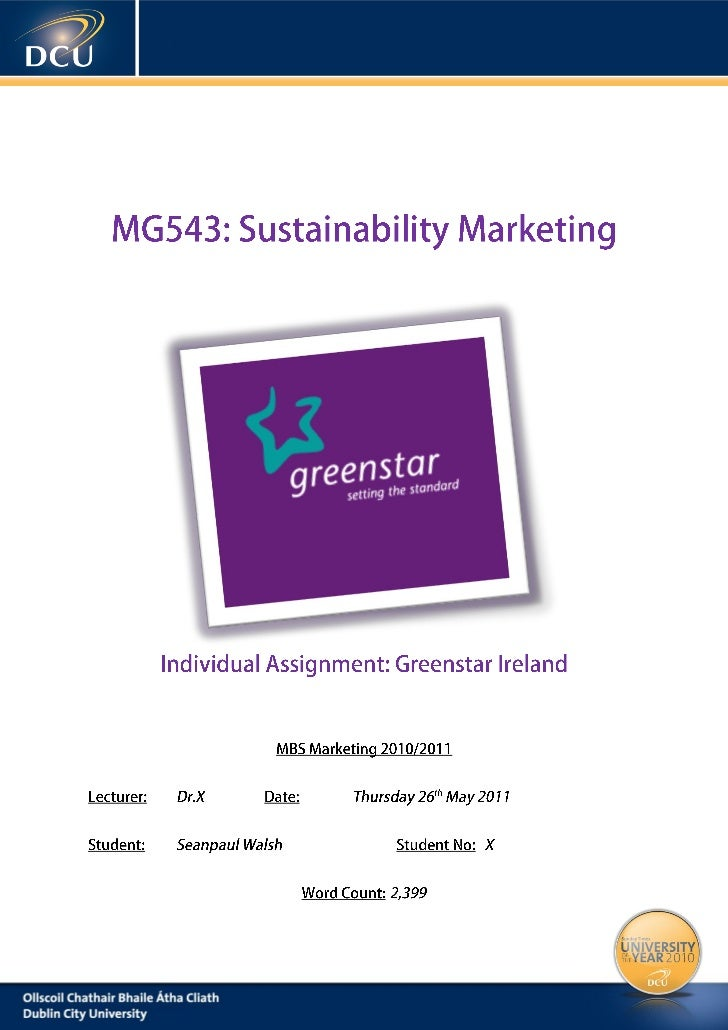 SUSTAINABILITY MARKETING - GREENSTAR LTD. AUDIT