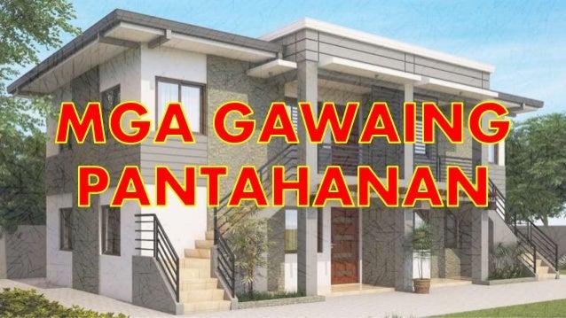 Mga Gawaing Pantahanan at Bahagi ng Bahay