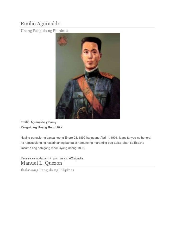 Mga Nagawa Ng Mga Hookup Pangulo Ng Pilipinas