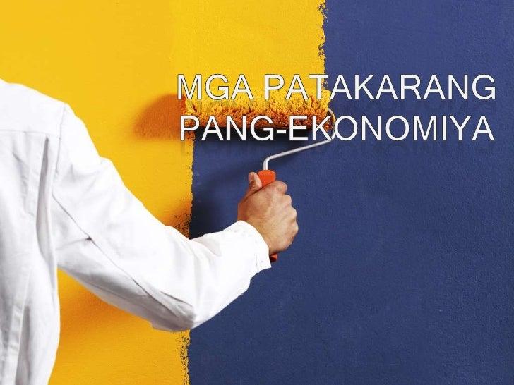 MgaPatakarang Pang-Ekonomiya<br />