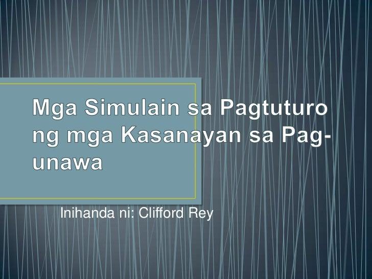 Mga Simulain sa Pagtuturo ng mga Kasanayan sa Pag-unawa