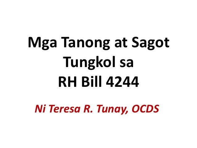 Mga Tanong at Sagot sa RH Bill