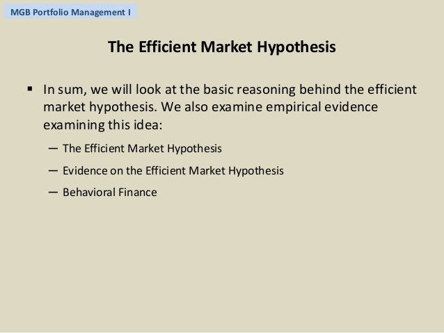 Market Anomalies and Behavioural Finance