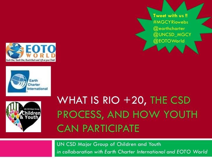 Rio+20: An introduction - english