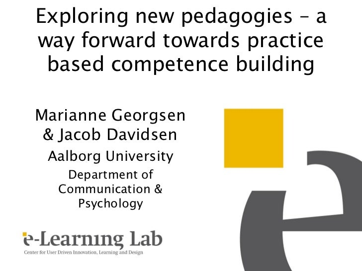 "Marianne Georgsens presentation ""Exploring new pedagogies"" at CAL11"