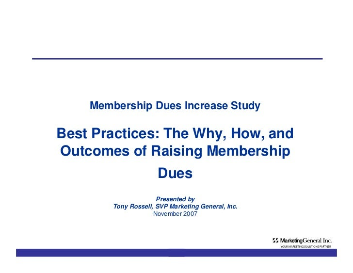 MGI Membership Dues Survey