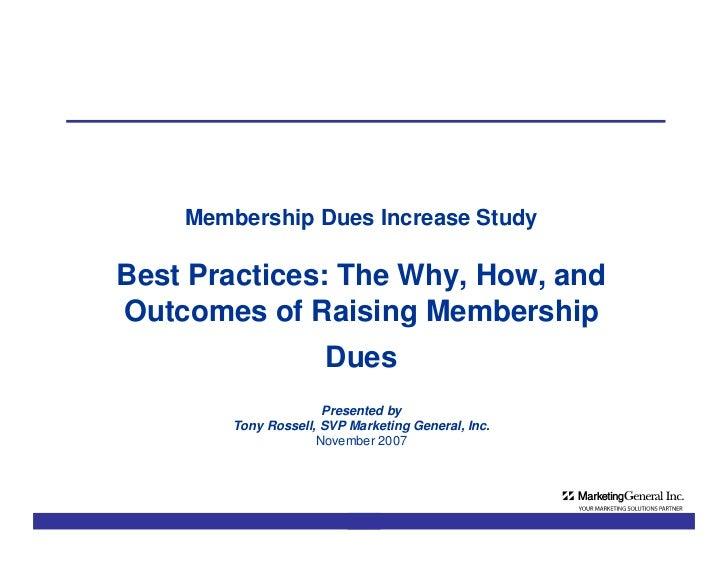 MGI Membership Dues Survey