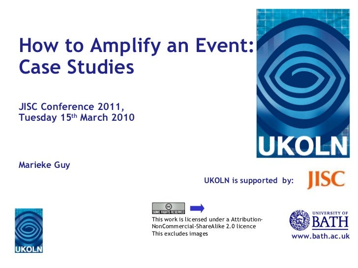 How to Amplify an Event: Case Studies
