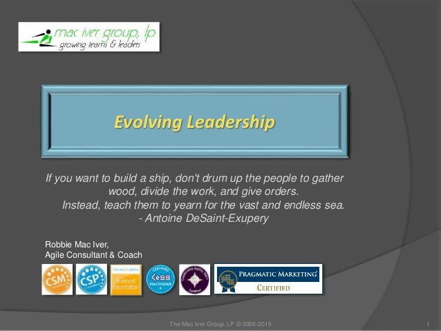 Evolving Leadership