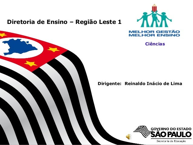 Diretoria de Ensino – Região Leste 1  Ciências  Dirigente: Reinaldo Inácio de Lima  SECRETARIA DA EDUCAÇÃO  Coordenadoria ...